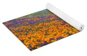 Color Filled Hills Yoga Mat