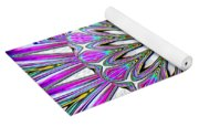 Colored Foil Lily Kaleidoscope Under Glass Yoga Mat