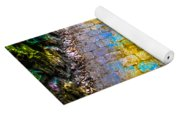 Colored Stones And Lichen Covered Bridge Yoga Mat
