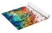 Colorful Bear Art - Bear Stare - By Sharon Cummings Yoga Mat