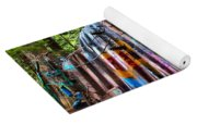 Colorful Box Car In The Forest Yoga Mat