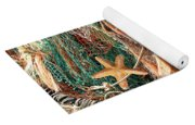 Colorful Catch - Starfish In Fishing Nets Yoga Mat