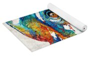 Colorful Chimp Art - Monkey Business - By Sharon Cummings Yoga Mat