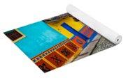 Colorful Cobblestone Street Yoga Mat