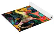 Colorful Floral Abstract IIi Yoga Mat