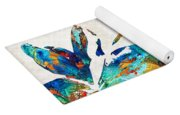 Colorful Hummingbird Art By Sharon Cummings Yoga Mat