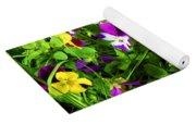 Colorful Pansies Yoga Mat