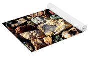 Colorful Rock Wall With Border Yoga Mat