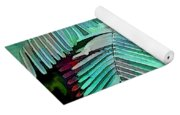Colorful Tropical Leaves In The Jungle Yoga Mat