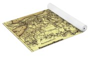 Connecticut And Western Railroad Map 1871 Yoga Mat