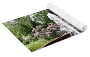 Cottage Garden Fountain Yoga Mat
