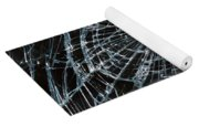 Cracked Glass Of Car Windshield Yoga Mat