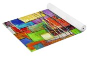 Crazy Abstract Yoga Mat