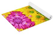Crazy Daises - Spring Flowers - Bouquet - Gerber Daisy Wanna Be - Kaleidoscope 1 Yoga Mat