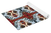 Crazy Fingers Piano Repeat Yoga Mat