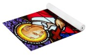 Cross And Red Robe Yoga Mat