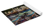 Crowded Beach Yoga Mat