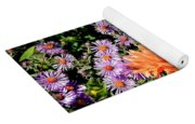 Dahlias And Asters Yoga Mat