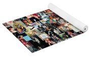 David Bowie Collage Yoga Mat