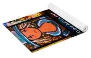 Dazzle Neck Art Collection Yoga Mat