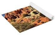 Dead Trees In A Rainbow Desert Yoga Mat