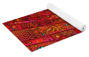 Diagonal Tiles In Reds Yoga Mat