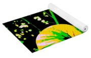 Digital Green Yellow Abstract Yoga Mat