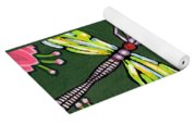 Dragonflies And Water Lilies Yoga Mat