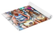 Drum Circle Of Friends Yoga Mat