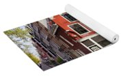 Dutch Style Traditional Houses In Amsterdam Yoga Mat