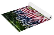 Eagles And Flags On Memorial Day Yoga Mat