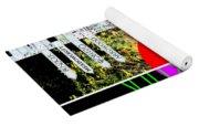 Eat Drink Explore Repeat 20140713 Vertical Yoga Mat