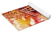 Eiffel Tower In Red Yoga Mat