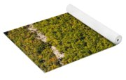 Elevated View Of Hot Air Balloon Yoga Mat
