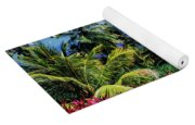 Elevated View Of Trees And Plants Yoga Mat