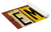 Emily License Plate Name Sign Fun Kid Room Decor Yoga Mat