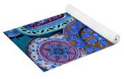 Erice Italy Plates Blue Yoga Mat