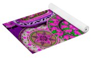 Erice Sicily Plates Pink Yoga Mat
