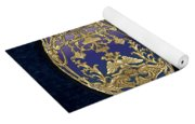 Faberge Tsarevich Egg With Surprise On Blue Velvet Yoga Mat
