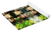 Face In The Stained Glass Tiled Yoga Mat