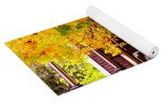 Fall Canopy Over Victorian Porch Yoga Mat