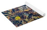 Fall Leaves In A Pond Yoga Mat