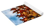 Fall Maple Leaves Yoga Mat