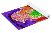 Fanciful Colors  Abstract Mosaic Yoga Mat