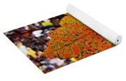 Fancy Fall Leaves Yoga Mat