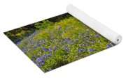Fenceline Wildflowers Yoga Mat