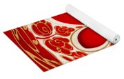 Festive Star Bauble Orb Yoga Mat