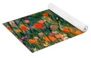 Field Of Flowers Yoga Mat