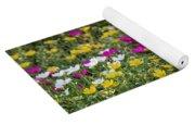 Field Of Pretty Flowers Yoga Mat