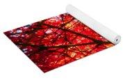 Fiery Maple Veins Yoga Mat